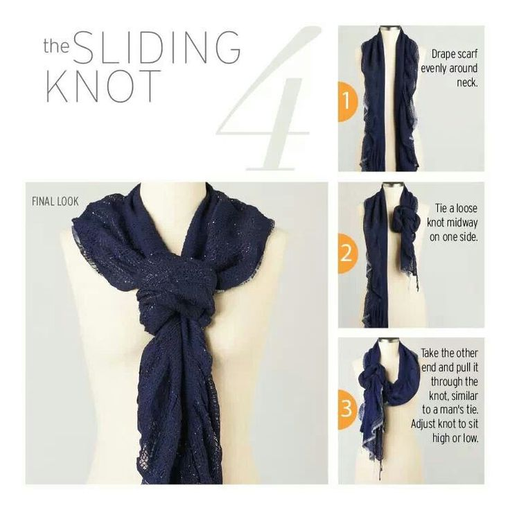 Ways To Tie A Knot: 1000+ Images About Scarf Knot Tying Tutorials On Pinterest