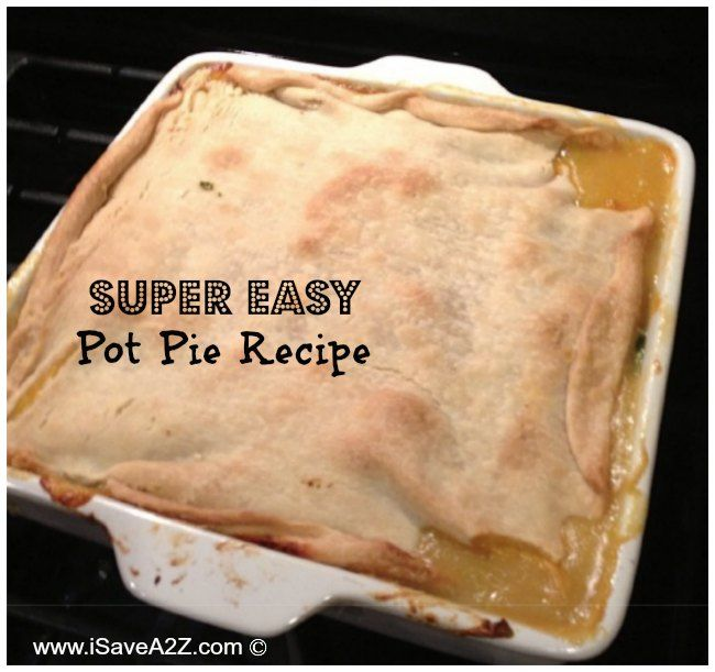 Super Easy Pot Pie Recipe made with left over meats!  SO Delicious!