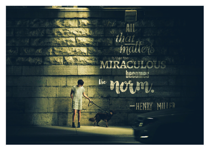 """""""All that matters is that the miraculous becomes the norm"""" Card by Graham McFie"""