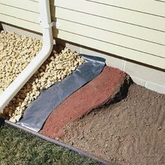 Sloping the soil away from the foundation will remedy a wet basement most of the time. The Family Handyman recommends firmly packing clay soil around the foundation, with at least a 4-in. slope over the first 4 ft. Place 6-mil black plastic over the soil and cover it with landscape rock. Install 4- to 6-ft. gutter extensions to your downspouts to direct water farther away from your foundation.