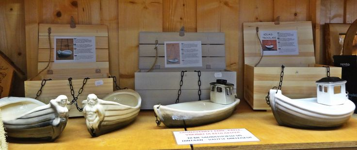 Different ceramic sauna boats for any taste.