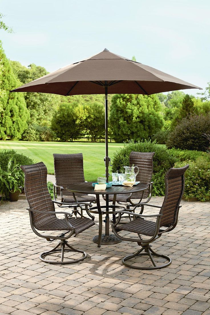 Ty Pennington Style Manchester 5 Piece Wicker Dining Set   Outdoor Living   Patio  Furniture