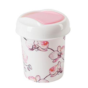 контейнер для мусора ориджинал 1 л декор орхидеи купить недорого в интернет-магазине