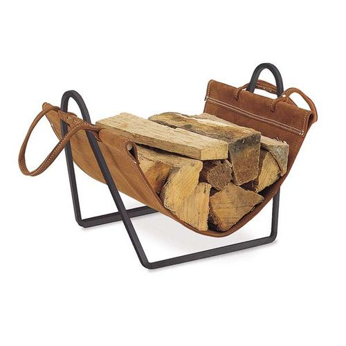 Combination log carriers and firewood racks make an ideal pair for storage of firewood at the hearth. The Traditions Indoor Firewood Rack with Carrier