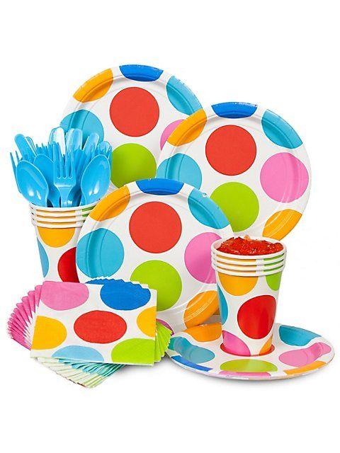 Polka dot plates