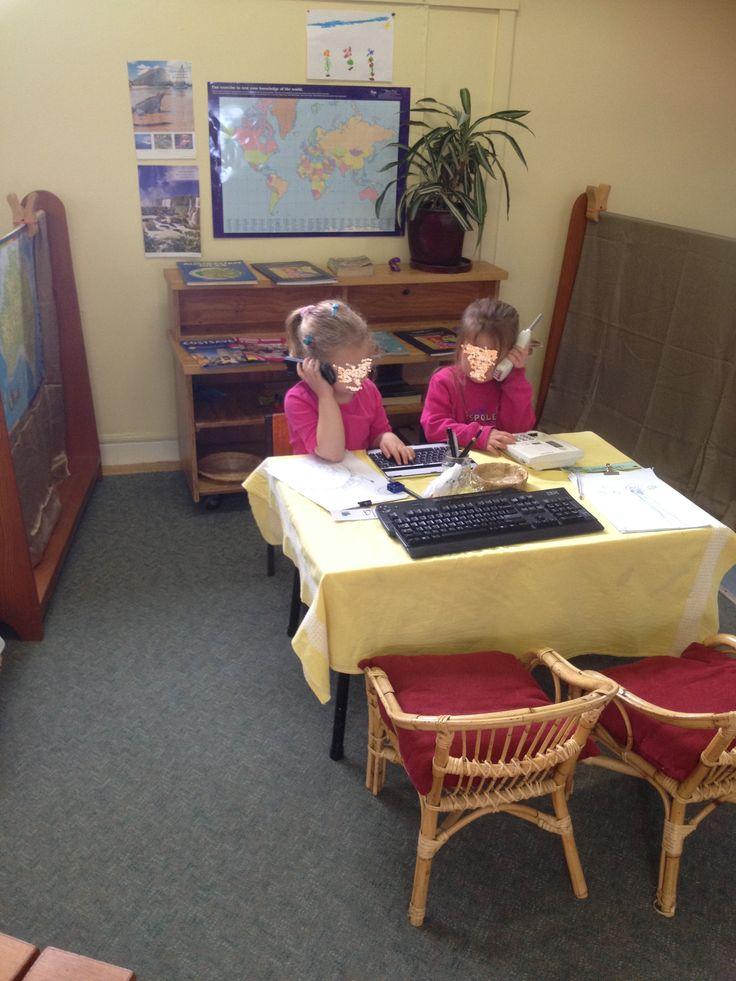 Office role play @ Maldon Preschool