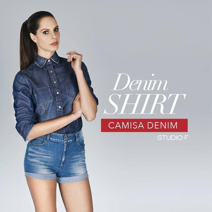 Las Denim Shirts son un básico que combina absolutamente con todo tu guardarropa. ¡Las tienes que tener! #WeLoveDenim #StudioFValenciaOficial