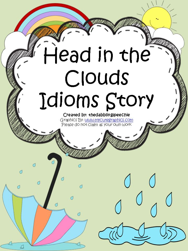 Idioms Activities on Head In The Clouds Idioms Activity Freebies