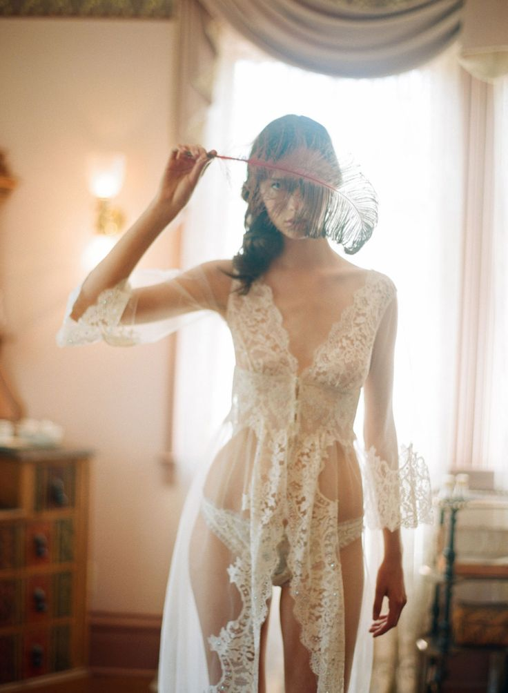 lovely lace gown robe