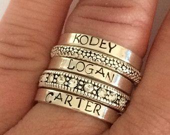 Benutzerdefinierten Namen Ring Sterlingsilber Setzring von smmade