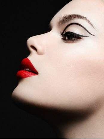 Trendige Make-up Fotografie Schwarz und Weiß Rote Lippen 46+ Ideen – # Fotograf…