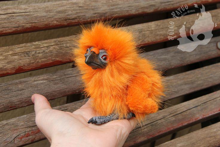 Phoenix chick (for sale) by AlvaroFuegoFatuo.deviantart.com on @DeviantArt