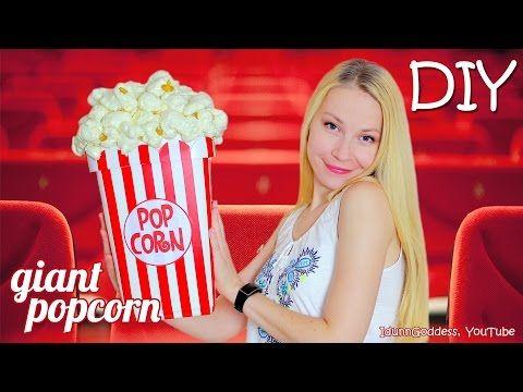 (1) Wie man einen riesigen Popcorn-Aufbewahrungseimer herstellt – DIY Giant Non-essbare Popcorn …   – DIY projects
