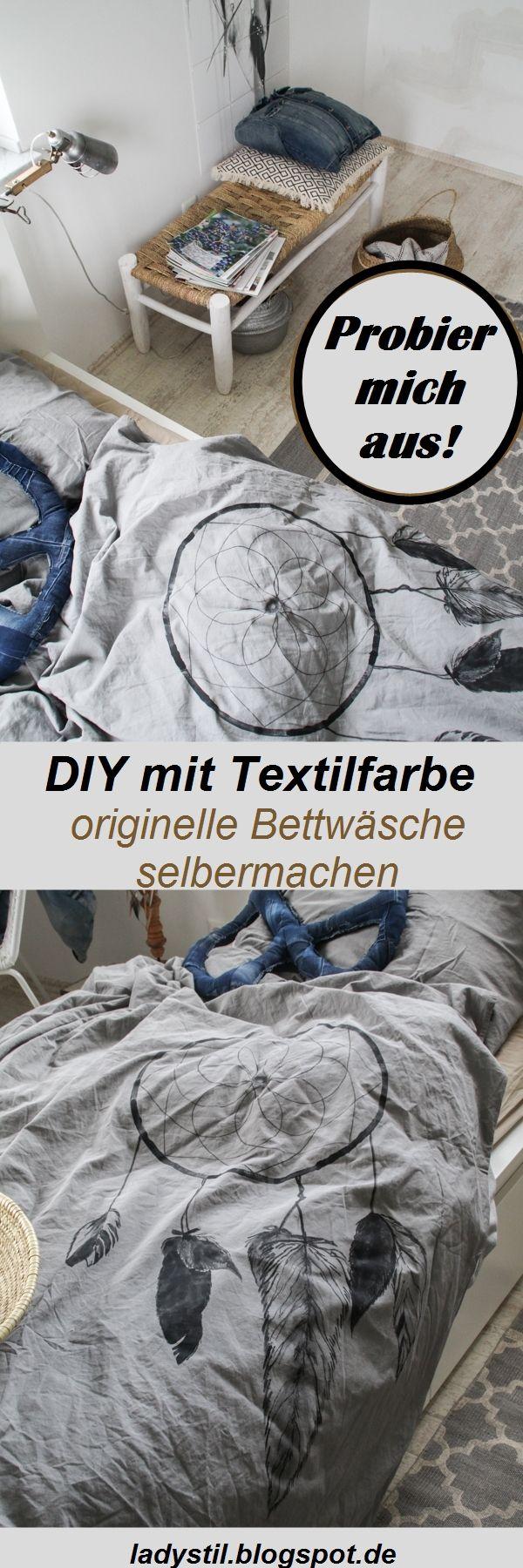 Nachmach-Tipps! Originelles DIY für Bettwäsche mit Textilfarbe!