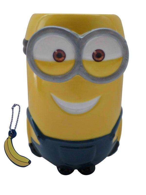 Tazza mug 3D Minions Kevin con charm alla banana