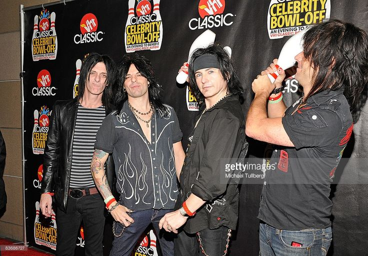 Heavy metal group L.A. Guns arrives at the VH1 Classic Rock Autism Celebrity Bowl Off charity event, held at the Lucky Strikes Lanes bowling alley on November 13, 2008 in Hollywood, California.