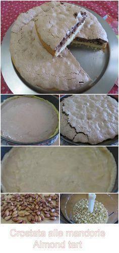 Crostata alle mandorle con crosta croccante , buonissima!!! #crostata #dolci #ricettegustose #ricette #gustose #recipe #receta #food #tarta @pie