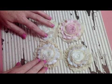 Simple Shabby Handmade Flower Tutorial