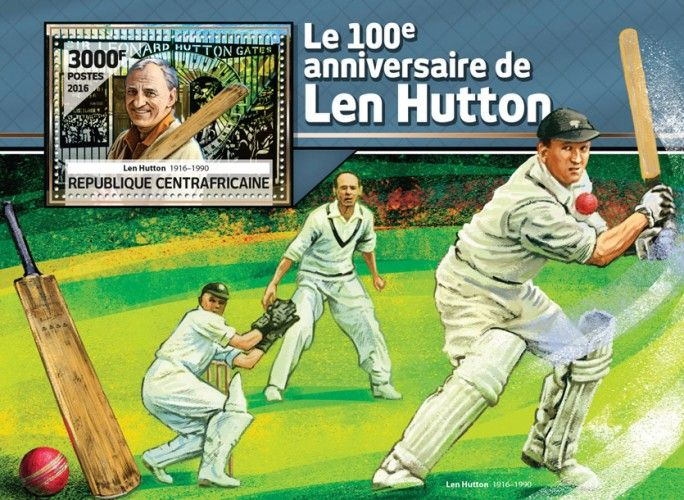 CA16513b The 100th anniversary of Len Hutton (Len Hutton (1916-1990)) (Cricket)