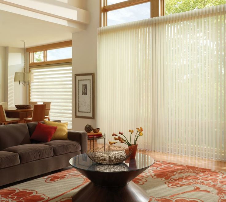 The unique Luxaflex Luminette Privacy Sheers provide the functionality of two blinds in one stunning shade to deliver light control and privacy.