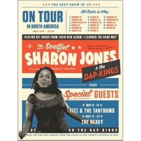 Sharon Jones & the Dap-Kings May 2010 North America Tour Poster - daptonerecords