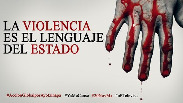 #AccionGlobalporAyotzinapa #YaMeCanse