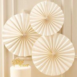 Ivory Circle Fan Decorations