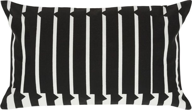 Vico Mono Stripe Cushion 30 x 50 cm, Black and White from Made.com. White/Black. Express delivery. Simple. Unfussy. In black and white. If only life..