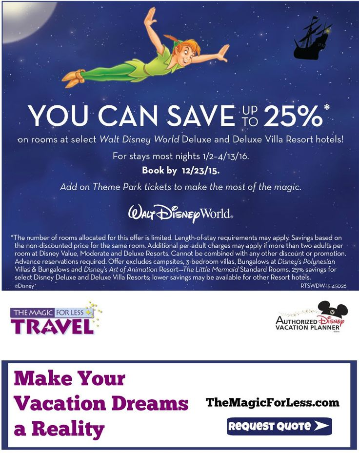 Travel Dates: August 20 – September 29, November 24 – 27 and December 7 – 23, *. Walt Disney World has announced its annual Disney Free Dining Discount!!!! Please note that in order to qualify for the free dining offer, your must check in during one of the available dates above.
