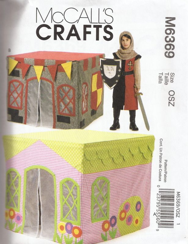 M6369 Pattern PLAYHOUSE Card Table Tent Fantasy McCallu0027s FREE US SHIPPING  sc 1 st  Pinterest & 119 best PLAY :: Table Cubby Houses Cubbies Sewing images on ...