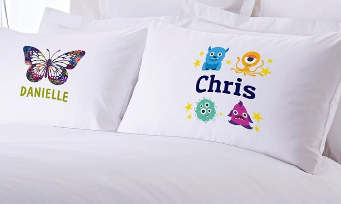 Monogram Online: One or Two Personalized Teen's or Kid's Pillowcases from Monogram Online (83% Off)