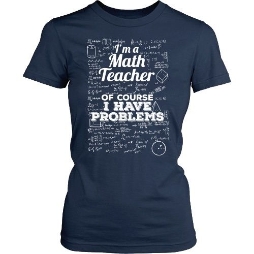 Math - Problems - District Unisex Shirt / Navy / S - 1