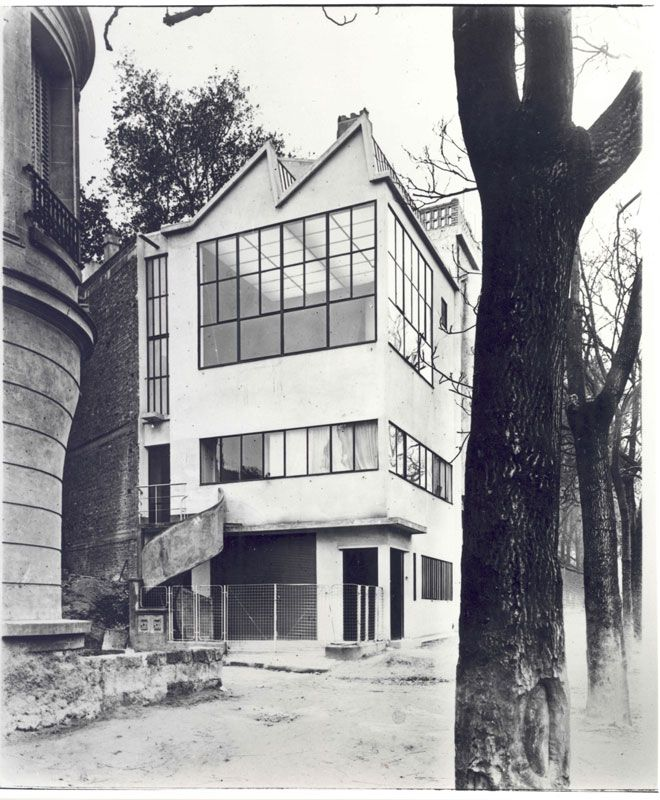 Atelier Ozenfant (1923) Le Corbusier. Aspect d'origine.