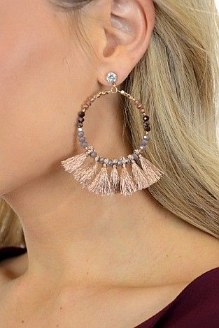 Outfit Maker Earring, Rose Gold :: NEW ARRIVALS :: The Blue Door Boutique