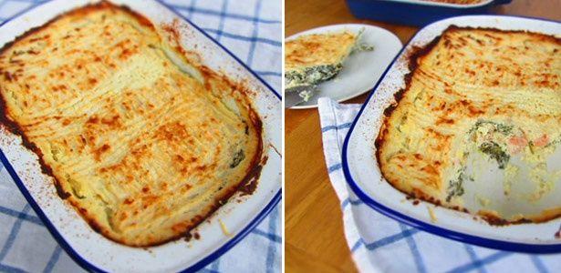 Low-carb fish pie