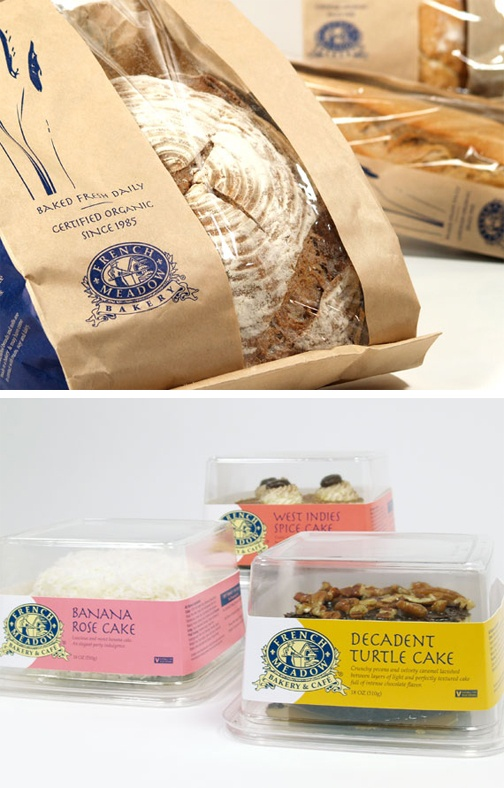 Packaging design for French Meadows - a café and innovative wholesale bakery goods supplier