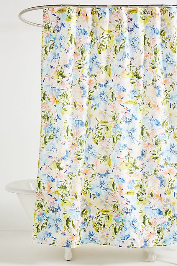 Slide View 1 Lillian Farag Petal Splash Shower Curtain