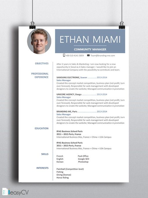 16 best images about template cv on pinterest perfect