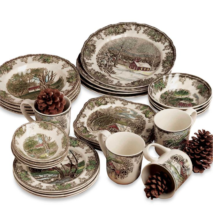 The centers of this beautiful Johnson Brothers Friendly Village earthenware depict scenes and landscapes from a pastoral village surrounded by lovely ...  sc 1 st  Pinterest & 210 best Christmas plates and cups ... and other beauty and charms ...