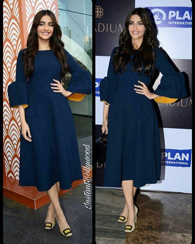 Sonam Kapoor snapped last night at Plan International Girl CHild event. @instantbollywood ❤ ❤ ❤ .