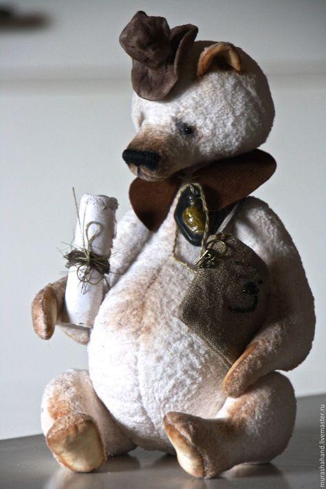 Купить Гонец 32 см во весь рост - антикварный плюш, любимый, интерьерная игрушка