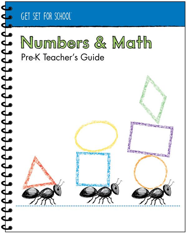 Numbers Math Pre K Teachers Guide 1 Pre K 3 5yr Pinterest