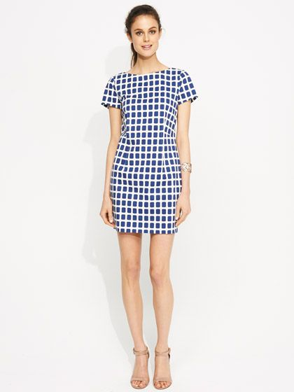 Square spot dress @ portmans
