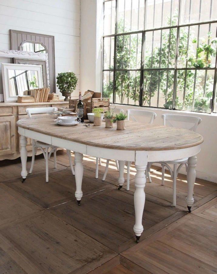 Mesas de comedor ampliables o extensibles para hacer grandes cuando ...