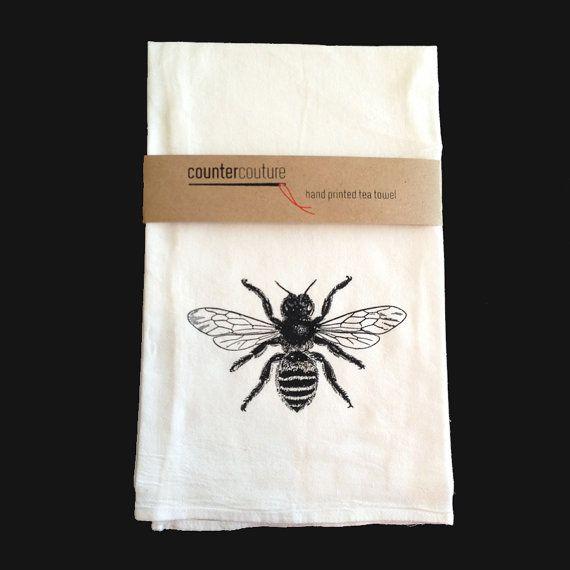 Tea Towels Printed For Schools: Honey Bee Kitchen Towel