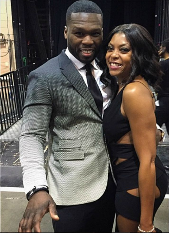 """Fans and Jackson said that Fox Network hit show """"Empire,"""" copied Starz Network TV series, """"Power,"""" a little. It seems all is well, a recent picture of Star of Empire, """"Cookie"""" actress Taraji P. Henson is pictured with Curtis """"50 Cent,"""" Jackson, stars as Kanan and the Executive Producer of Starz Network TV series """"Power."""""""
