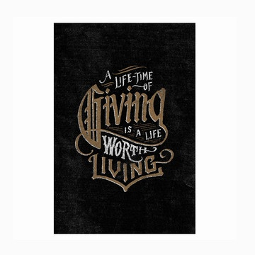 A Lifetime of Giving by Jon Contino for Help Ink : 40% goes to Children's Hunger Fund
