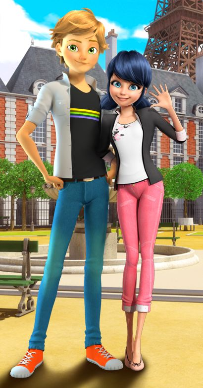 I need more of Adrien and Marinette spending time together. Pretend they are on a date hanging out at the park or something. [ps. this is an edit so no one lose their mind, okay?]