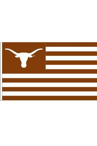 Want to show your patriotism and allegiance to the #Longhorns? You're in luck. This flag does them both. Fly it with pride, friends! #tailgating #hookem