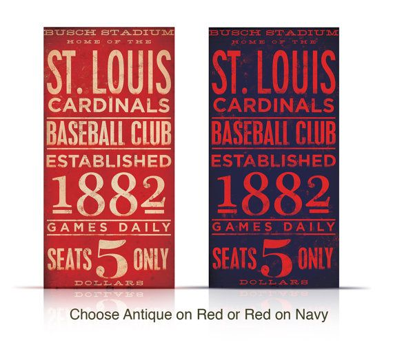 St Louis Cardinals Baseball Typography Graphic Word Art On